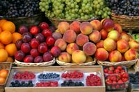 fresh fruits on tuscany market