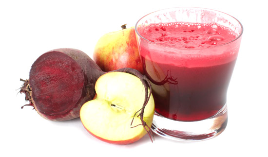 apple and beet juice